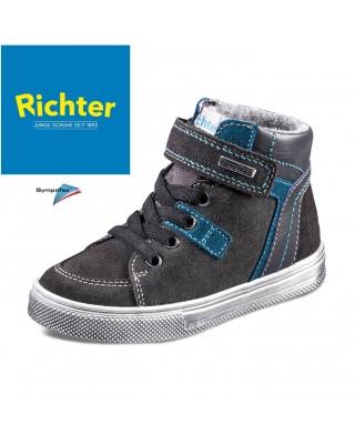 Richter sötétszürke bélelt vízálló cipő