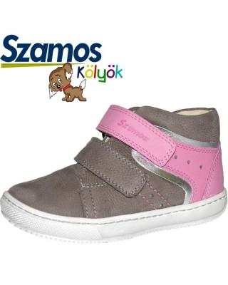 Szamos kölyök szürke-rózsaszín cipő