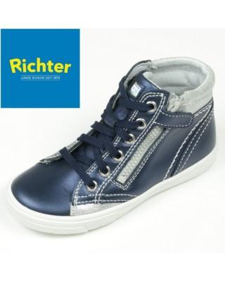 Richter metál kék magasszárú cipő
