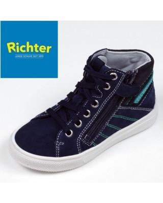 Richter sötétkék magasszárú cipő