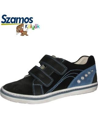 Szamos kölyök fekete tépőzáras cipő