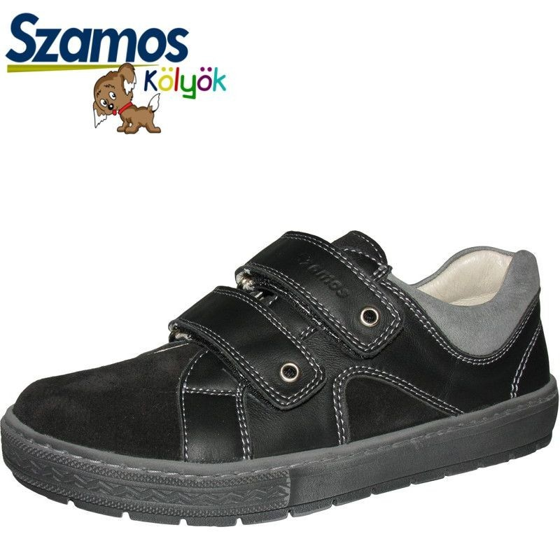 Szamos kölyök fekete-szürke cipő - Vitálos cipőbolt Szentendre 60e85f8a55