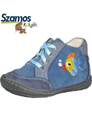 """Szamos kölyök """"első lépés"""" kék kiscipő"""