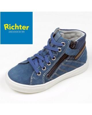 Richter farmerkék magasszárú cipő