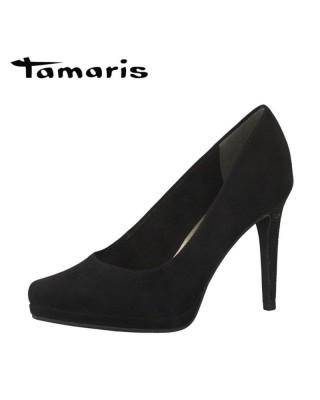Tamaris fekete platformos magassarkú cipő