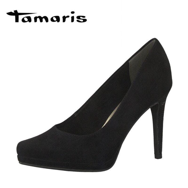 11bec64d0e Tamaris fekete platformos magassarkú cipő - Vitálos cipőbolt Szentendre