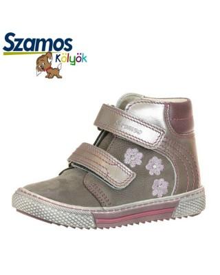 Szamos kölyök ezüst magasszárú cipő