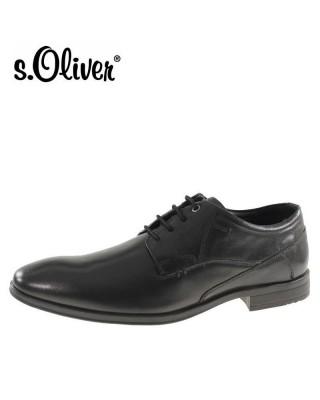 S.Oliver fekete férfi félcipő