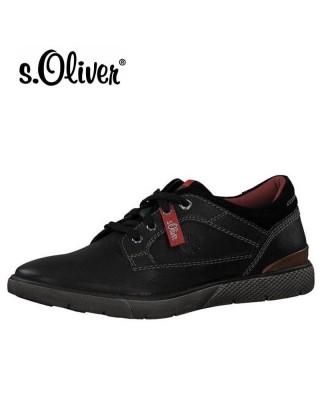 S.Oliver fekete bőr férfi...