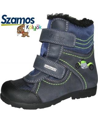 Szamos kölyök SUPINÁLT kék motoros téli cipő