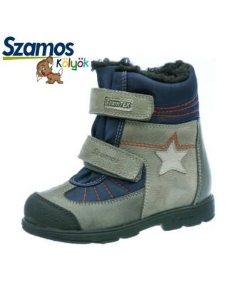 Szamos kölyök SUPINÁLT szürke téli cipő