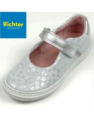 Richter metál szürke balerina cipő