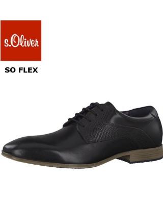 S.Oliver elegáns fekete férfi cipő