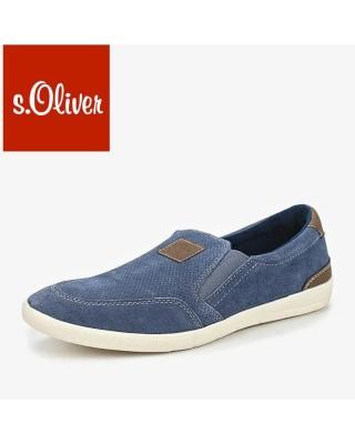 S.Oliver kék belebújós férfi cipő