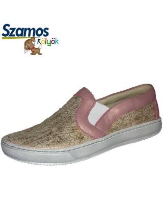 Szamos kölyök rózsaszínű slip on cipő