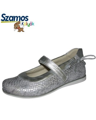 Szamos kölyök ezüst színű pántos cipő