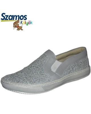 Szamos kölyök ezüst színű slip on cipő