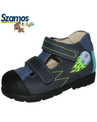 Szamos kölyök SUPINÁLT sötétkék nyitott cipő