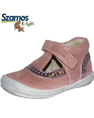 Szamos kölyök rózsaszín nyitott kiscipő