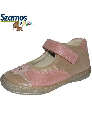 Szamos kölyök bézs pántos cipő