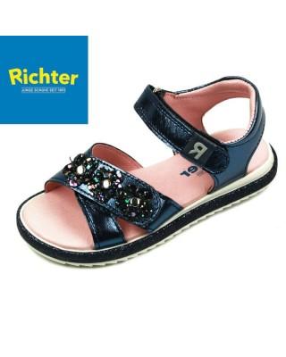Richter metál kék lány szandál