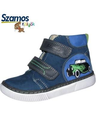 Szamos kölyök kék magasszárú cipő