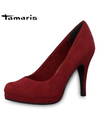 Tamaris piros magassarkú cipő